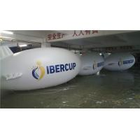 Quality 6m Long Helium Inflatable Blimp White For Advertising Promotion Fire Resistance for sale