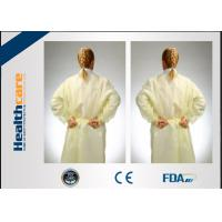 China Non - Irritating Disposable Isolation Gowns Non-woven 16-70G Patient Exam Gowns  on sale