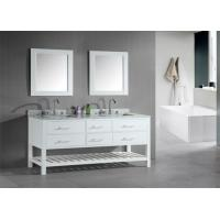 Buy Shaker Style Double Sink Bathroom Vanities And Cabinets Waterproof Board at wholesale prices ...