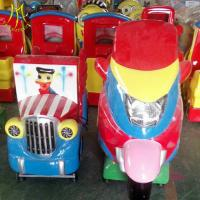 China Hansel  theme park equipment for sale swing motor ride fiber glass electric kid motorcycle ride on toy on sale