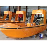 Quality SOLAS approval outboard engine open rescue boat for sale