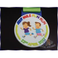 Quality Personalized Childrens Plastic Medals , Fun Run Medals Non Enamel for sale