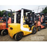 Quality tcm used diesel forklift manual 3 ton isuzu engine with 3000mm mast for sale