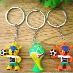Quality 2014 Brazil world cup mascot key chain TJ0095 for sale