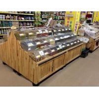 Quality Multifuntion Food wooden retail display For Supermarket / Store 3 layers for sale