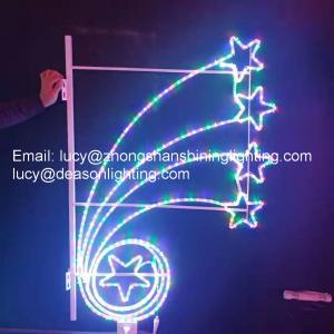 Quality christmas decoration pole lights for sale