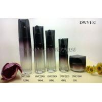 Quality 60ml 40ml Painted Cosmetic Glass Bottle Set For Skincare Cream for sale