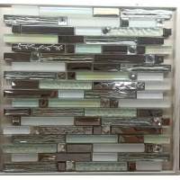 China AAA Metal Color 300x300mm Glass Mosaic Tile For Villa on sale
