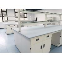 Quality Monolithic Epoxy Resin Laboratory Table Tops 25mm Thickness Grey Color for sale