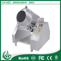 Stainless steel commercial induction Stir-fry drum machine