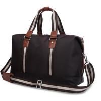 Quality Personalized Luxury Travel Duffel Bags for Men with Leather Handles for sale