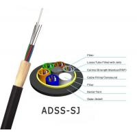 Quality ADSS Optical Fiber Cable All Dielectric Self Supporting Aerial With 100m 200m Span for sale