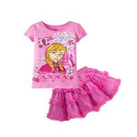 Quality Pink Baby clothes Suit baby t shirt + baby skirt for sale