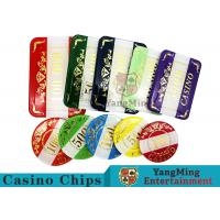 Casino Style Numbered Poker Chip SetBright Color With Customized Print Logo
