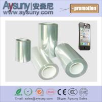 Quality Extra-transparent Self-adhesive removable PET protective film roll screen protector for sale
