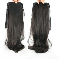 Quality Fashion Synthetic   Natural Black  Natural Wave Pony Tail Hair Piece for sale