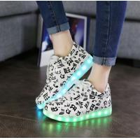China High Elastic LED Light Up Sneakers Fashional Android And ISO App Remote Control Non - Slip on sale