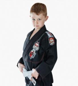 Quality Custom Black BJJ Gi Kimono Martial Arts Suit / Karate Clothes For Kids for sale