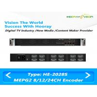 Quality 8 / 12 / 24 CVBS Inputs Digital TV Encoder Suppport  MPTS SPTS IP Output with Advertisement for sale