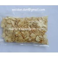 Quality dried garlic flakes with root for sale