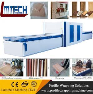 Buy cheap PVC Exterior Composite Doors vacuum membrane press machine from wholesalers