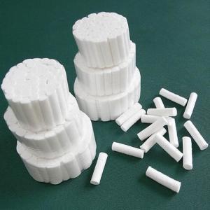 Quality 1.2cm Diameter White 1.2X3.8cm Cotton Dental Rolls for sale