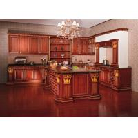 European Style Hardwood Solid Wood Kitchen Cabinets Wall Mounted Traditional