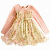 Quality Girls' Dress, New Style, Perfect for Party/Ceremony, OEM Orders are Welcome for sale