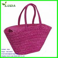 Quality Bright Purple Straw Handbag for sale