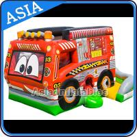 Quality Outdoor Inflatable Cartoon Bus Jumping Castle For Children Party Games for sale