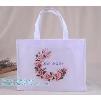 China Hot Sale Promotional Tote Plastic Gift Shopping Non Woven Bag for Women, laminated non woven bag special supermarket sho on sale