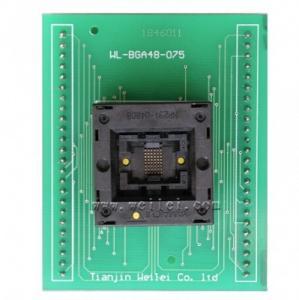 China programmer adapter BGA48 ic socket for wellon programer 0.75mm pitch BGA48 Socket on sale