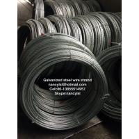 Quality ACSR Conductor Galvanized Steel Wire Cable Strand With High Tensile Strength for sale