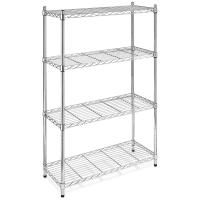Quality Knock down retail heavy duty wire display stand rack shelf / storage shelving units for sale