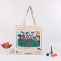 Quality Handheld Personalised Canvas Tote Bags / Custom Made Promotional Cotton Tote Bags for sale