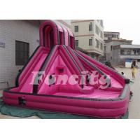 China Hello Kitty Pink Inflatable Slide With Stairs And Roof Bouncing House on sale
