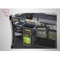 Quality Travel Baby Playpen Bed Water Resistant Fabric Thickened Alloy Frame for sale