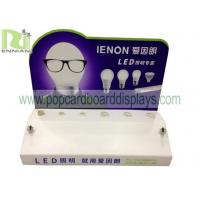 Quality acrylic /plastic counter display for LED light with plug base for tester for sale