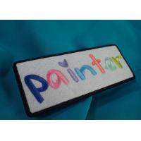 China Personal Custom Clothing Patches , One Side Printable Iron On Patches on sale