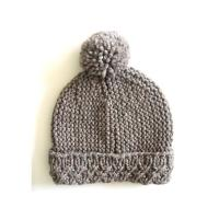 Custom OEM Hand Knit Hats Handmade Baby Beanies Crochet Caps and Photo Props for Newborns Boys & Girls Modern Natural