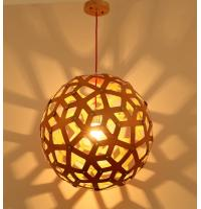 Quality Contemporary Elegant Wood Design Pendant Lamp for Living room, Restaurant & Hotel for sale