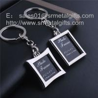 China Metal picture frame locket key tag with print card insert, photo locket, on sale