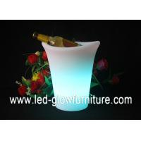 Quality 16 Color Changing Light Up LED Flower Pots , illuminated lighted planter pot for sale