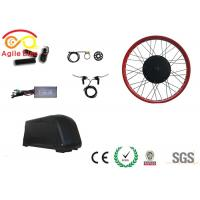Quality Brushless Gearless Motor Fat Tire Electric Bike Conversion Kit 26 Inch Wheel for sale