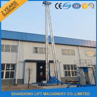 Quality Hydraulic Mobile Telescopic Ladder Aerial Work Platform Lift With 150kgs Loading 19m Height for sale
