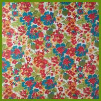 Quality Popular flowering prints tablecloth made of 100% polyester slub fabrics or customized fabrics for sale