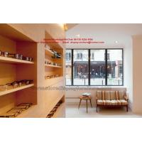 Quality Visual inspection center Wood fixture by wall display cabinet and Treatment table at the optician