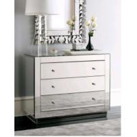 UK Style Bedroom Mirrored Chest Dresser Table With Venetian Wall Mirror