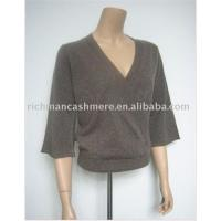 Quality lady's V-neck cashmere pullover for sale