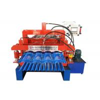 Quality Glazed Tile Double Layer Roll Forming Machine Sprocket P-25.4 Roller Station 13-14 Rows for sale